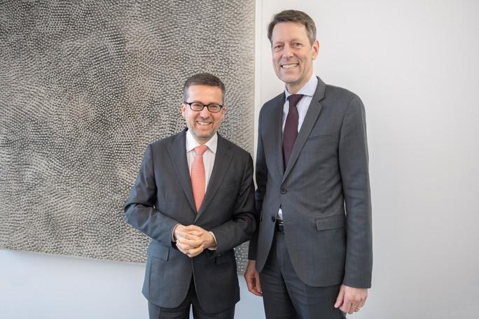 An dem Treffen mit EU-Forschungskommissar Carlos Moedas nahm auch Staatssekretär Georg Schütte teil
