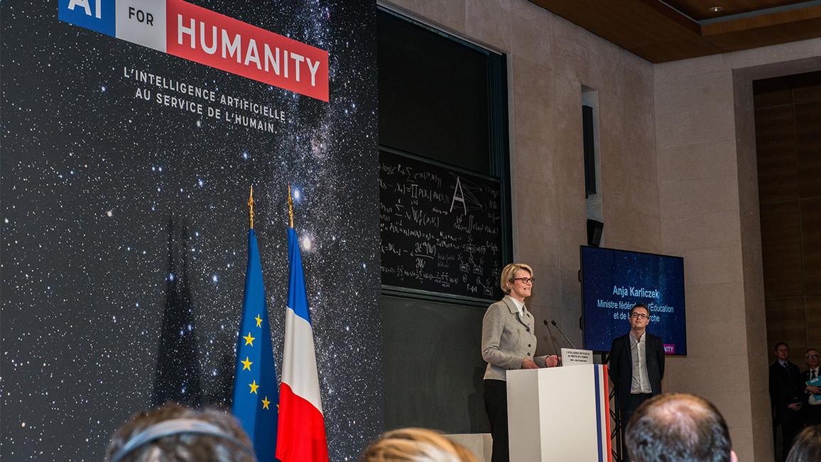 Bundesministerin Anja Karliczek während ihrer Rede