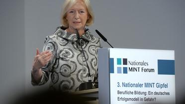 Johanna Wanka auf dem 3. Nationalen MINT-Gipfel