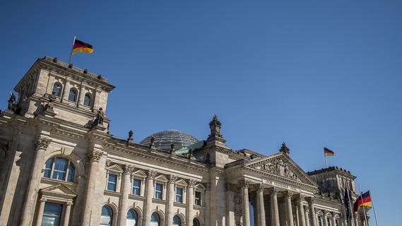 Blick auf den Reichstag