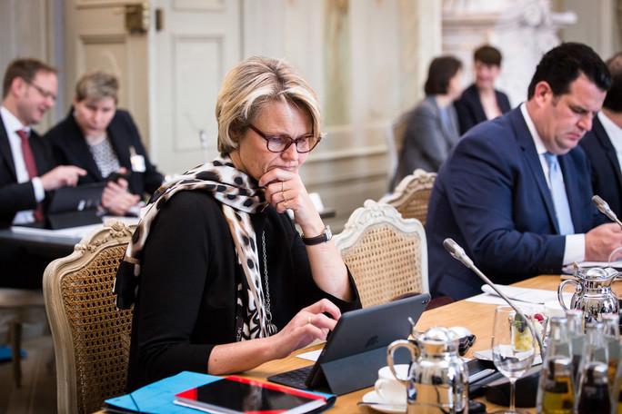 Bundesministerin Anja Karliczek währen der Regierungsklausur in Meseberg