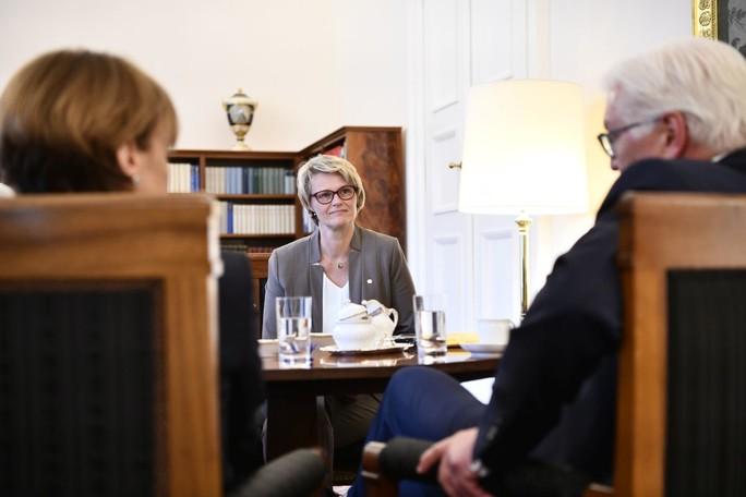 Bundesministerin Anja Karliczek tauschte sich heute mit Bundespräsident Steinmeier zum Thema Berufliche Bildung aus
