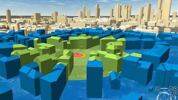 Mögliche 3D-Visualisierung des Fundortes eines Blindgängers.