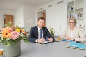 Bundesministerin Anja Karliczek empfing in Berlin den Ministerpräsidenten von Sachsen, Michael Kretschmer, zu einem persönlichen Gespräch