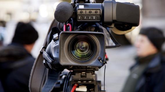TV Nachrichten-Kamera