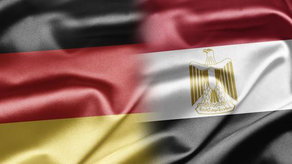 Flagge Deutschland und Ägypten