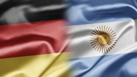 Flagge Deutschland und Argentinien