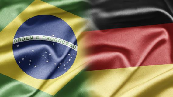 Flagge Brasilien und Deutschland