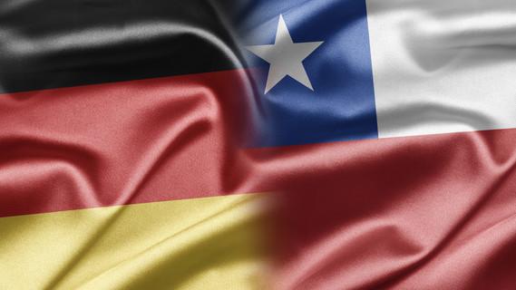 Flagge Deutschland und Chile