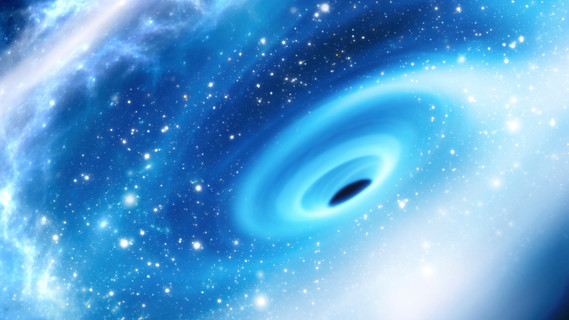 Supermassives Schwarzes Loch in der Milchstraße im galaktischen Zentrum