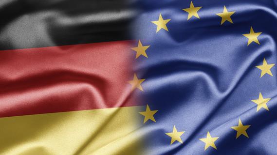 Flagge Deutschland und EU
