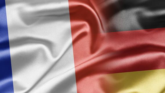 Flagge Frankreich und Deutschland