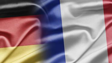 Flagge Deutschland und Frankreich