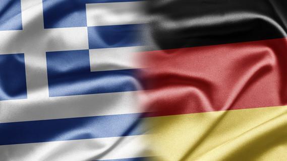 Flagge Griechenland und Deutschland