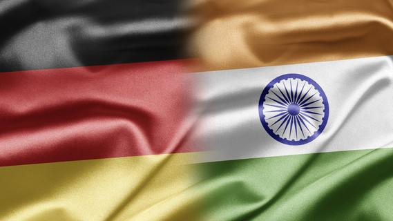 Flagge Deutschland und Indien