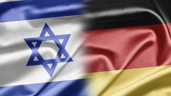 Flagge Israel und Deutschland