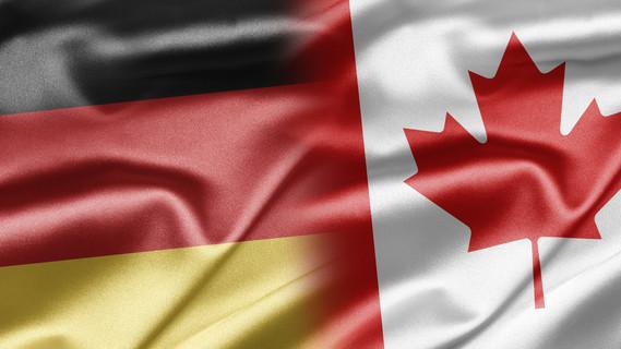 Flagge Deutschland und Kanada
