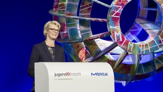 Bundesbildungsministerin Anja Karliczek während ihrer Rede