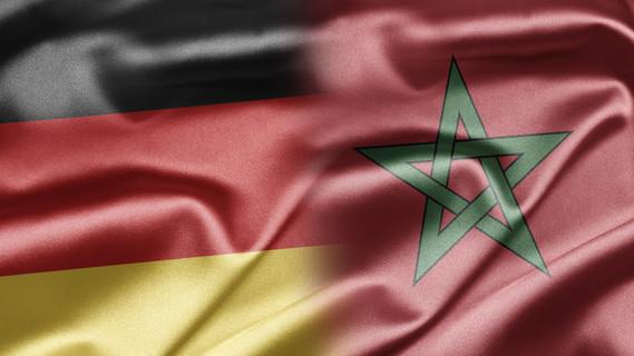 Flagge Deutschland und Marokko