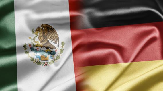 Flagge Mexiko und Deutschland
