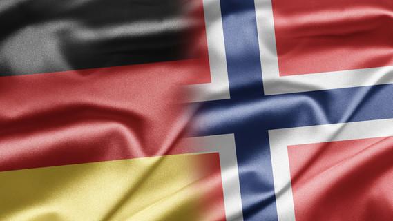 Flagge Deutschland und Norwegen