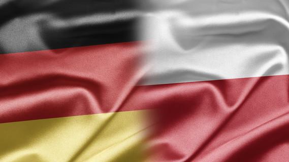 Flagge Deutschland und Polen