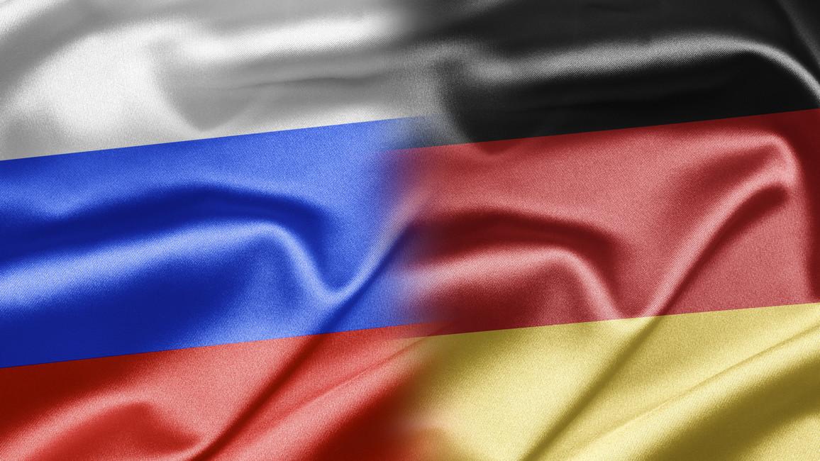 Flagge Russland und Deutschland