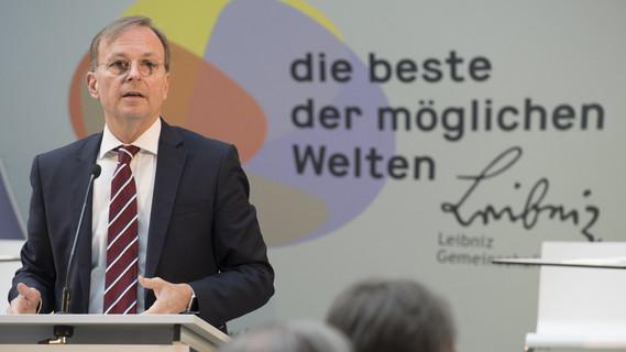Thomas Rachel, Parlamentarischer Staatssekretär bei der Bundesministerin für Bildung und Forschung, während seiner Rede zum Start des Leibniz-Professorinnenprogramms