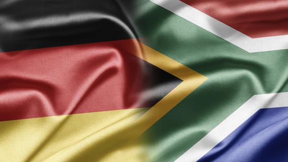 Flagge Deutschland und Südafrika