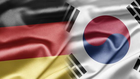 Flagge Deutschland und Südkorea