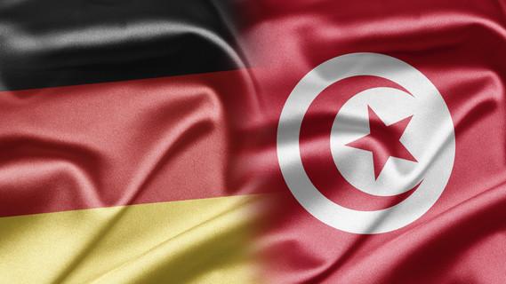 Flagge Deutschland und Tunesien