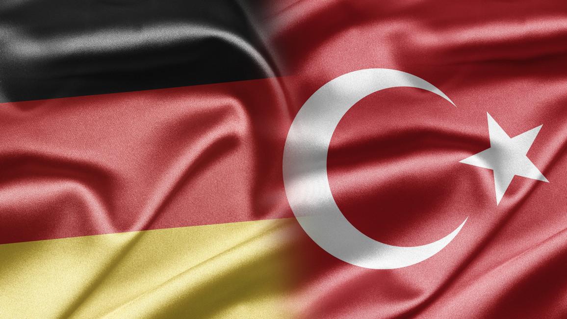Flagge Deutschland und Türkei