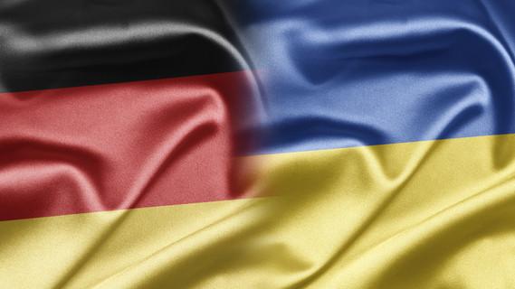 Flagge Deutschland und Ukraine