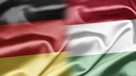 Flagge Deutschland und Ungarn