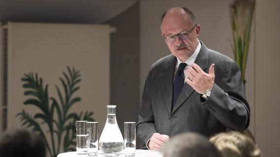Michael Meister, Parlamentarischer Staatssekretär bei der Bundesministerin für Bildung und Forschung, beim 1. Netzwerktreffen Gesundheitsforschung des vfa in Berlin