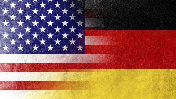 Flagge Deutschland und USA