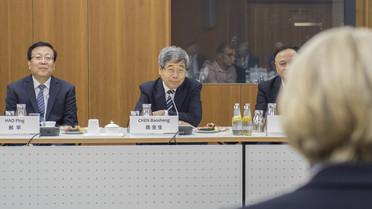 Bundesbildungsministerin Anja Karliczek empfängt am Rande der Deutsch-Chinesischen Regierungskonsultationen ihren Amtskollegen Chen Baosheng zu einem bilateralen Gespräch im BMBF.