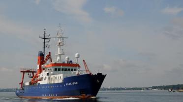 Forschungsschiff Poseidon vor Kiel