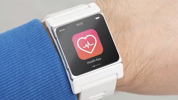 Uhr mit Gesundheits-App