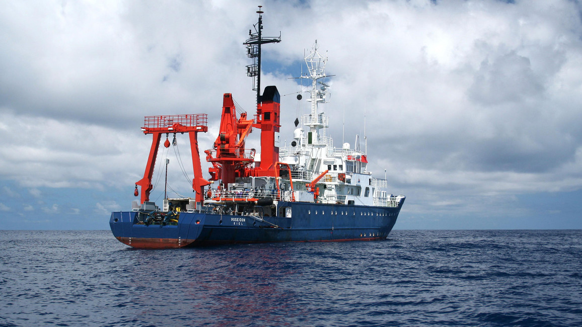 Forschungsschiff POSEIDON während Expedition POS403 vor den Azoren