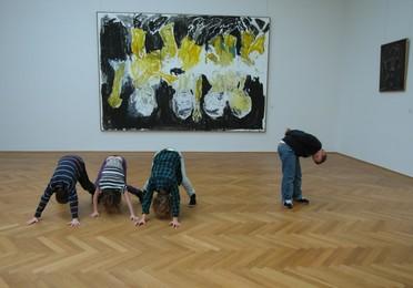 Kinder im Albertinum der Staatlichen Kunstsammlungen Dresden.
