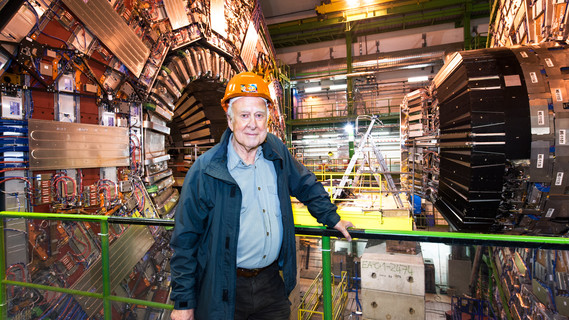 Peter Higgs im CERN