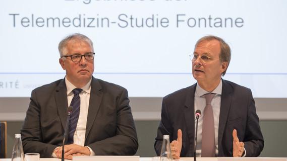 In Anwesenheit von Thomas Rachel, Parlamentarischer Staatssekretär bei der Bundesministerin für Bildung und Forschung, stellte Friedrich Köhler heute seine Studie zur Telemedizin vor.