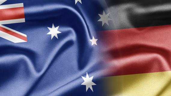 Flagge Deutschland und Australien