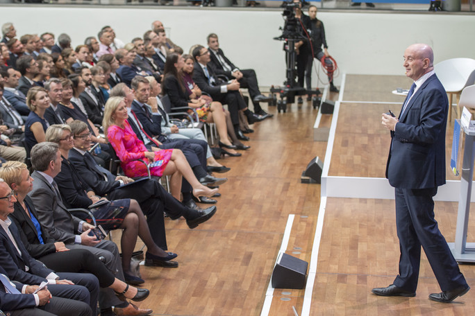 Daniel Zaifman, Präsident des Weizmann-Instituts, hielt die Festrede