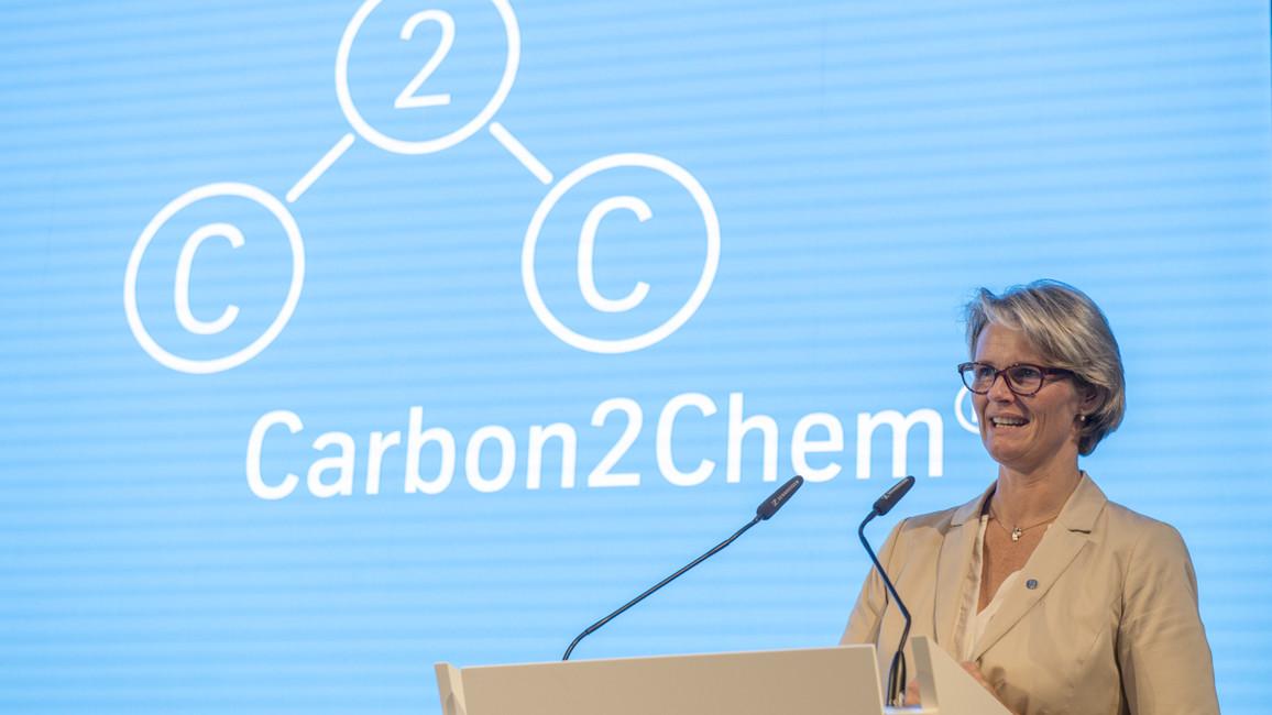 Bundesministerin Anja Karliczek während ihres Grußwortes.