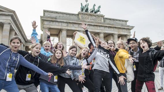 Freuen sich auf ihre Tage in Berlin - junge Talente aus ganz Deutschland