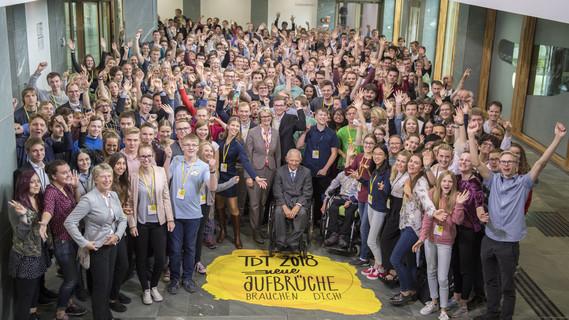 Als Ehrengast kam Bundestagspräsident Wolfgang Schäuble zum Tag der Talente