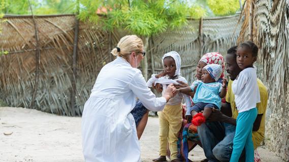 Untersuchung in Afrika