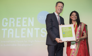 Green Talent 2018: Ishani KHURANA, PhD student in Synthesis of Graphene Based Materials for the Removal of Water Pollutants (India)